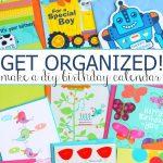 DIY Birthday Calendar that Kids will Love