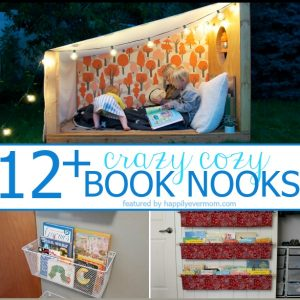 12+ Book Nook Hacks – bye bye bookshelves!