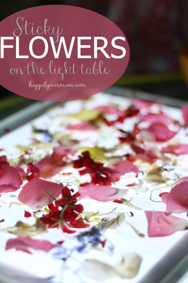 Easy light table activity that has gorgeous results ~ so pretty!