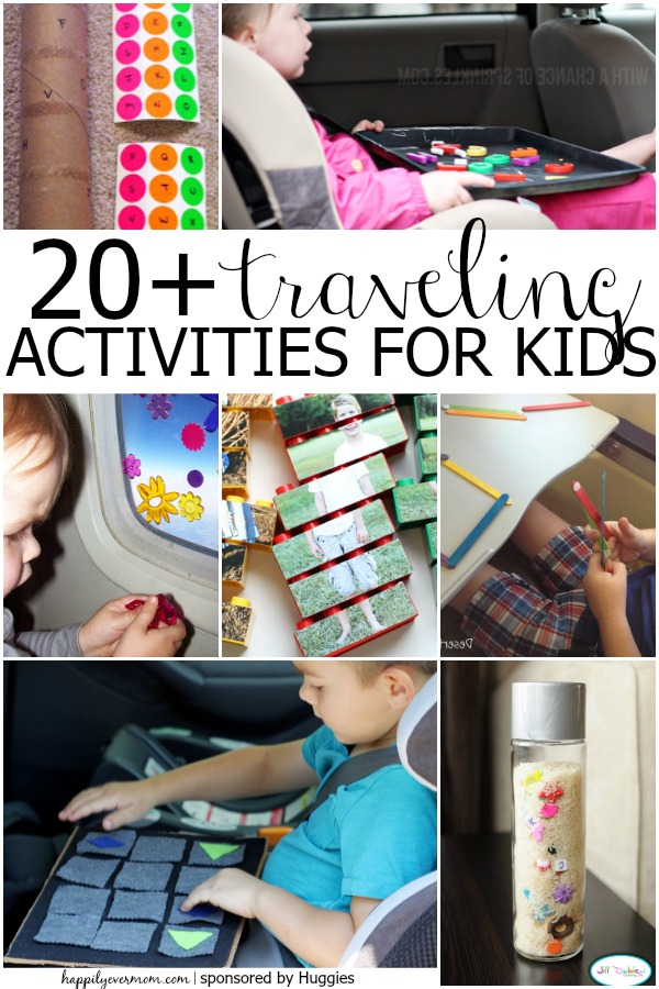 Have fun traveling with kids ~ these will keep them entertained! If you're headed on a family vacation or road trip, these kids activities will definitely help you and the kids stay sane! #familyvacation #roadtrip #travel #travelactivities #car #plane #adventure #trips #springbreak #summer #longflights #simple