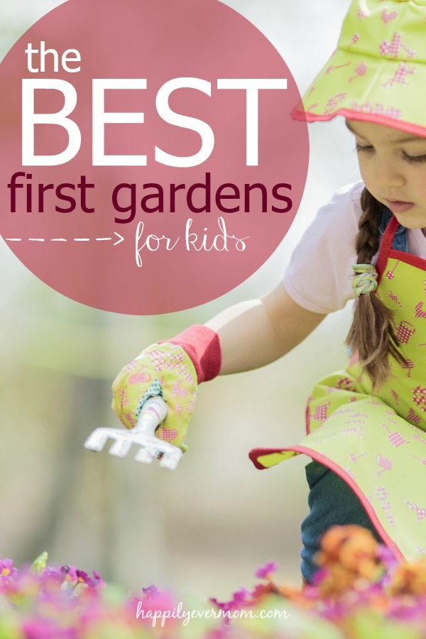 The best ideas for making gardens for kids.  Love the vegetables suggested to plant.