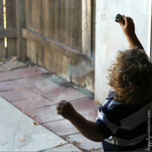 Quick Toddler Activity – Make a Window Race Track!