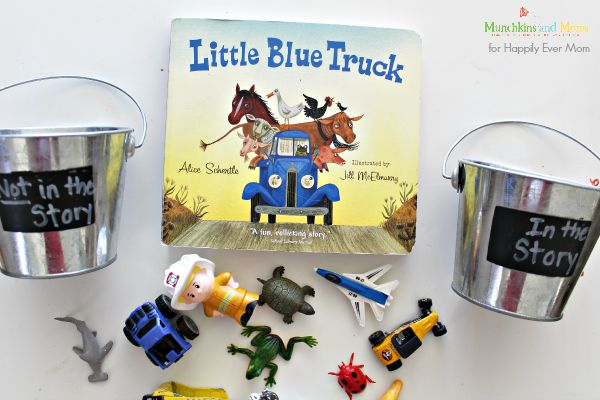 Fun little blue truck activity