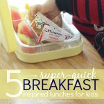 5 Super-Quick Breakfast Inspired Lunches for Kids!