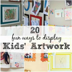 20 Fun Ways to Display Kids' Artwork