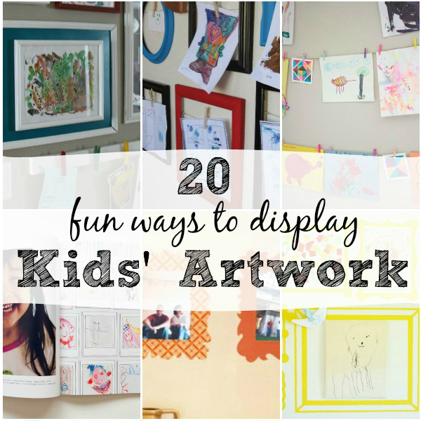 Fun ways to display kids' artwork in your home ~ didn't know about those frames at the end! I want!