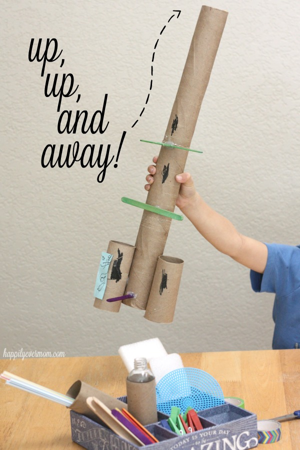 Make a mini maker kit with recyclables around your home.
