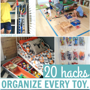 So Smart! 20 Hacks to Organize all of Your Kid's Toys.