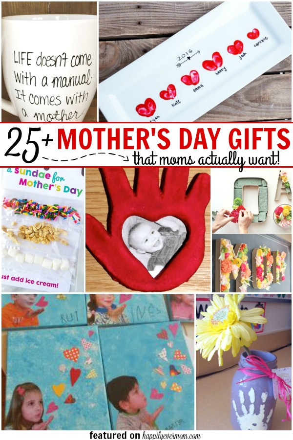 These Mother's Day Gifts are too cute! From photo gifts to wearable gifts to gifts that you can purchase, there is something for everyone on this list!