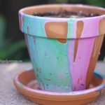 Gardening with Kids: Make Pour Painted Pots!