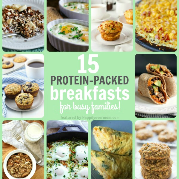 Protein packed breakfasts that will give you energy all morning long. Even the kids will love eating a protein packed breakfast because these recipes taste SO good! Can't wait to work through the list!!