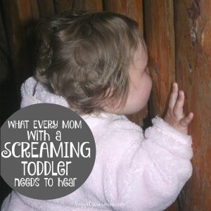 To the Mom in Public with a Screaming Toddler