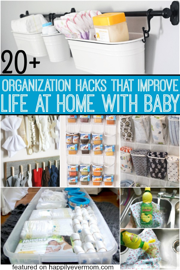Organization hacks that will make your nights easier and your days just a little less dazed when your home with baby. These organization hacks are exactly what every parent needs!