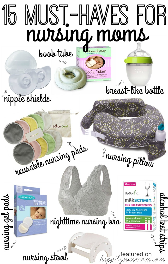 15 Must-Haves for New Moms who want to nurse or who have started to breastfeed their baby. If you're struggling with breastfeeding, these are all lifesavers! Every single one is something real Moms have used to help relieve pain during nursing and help them through breastfeeding their baby in the first few months. These are essential! #YeahBabyBook #giveaway