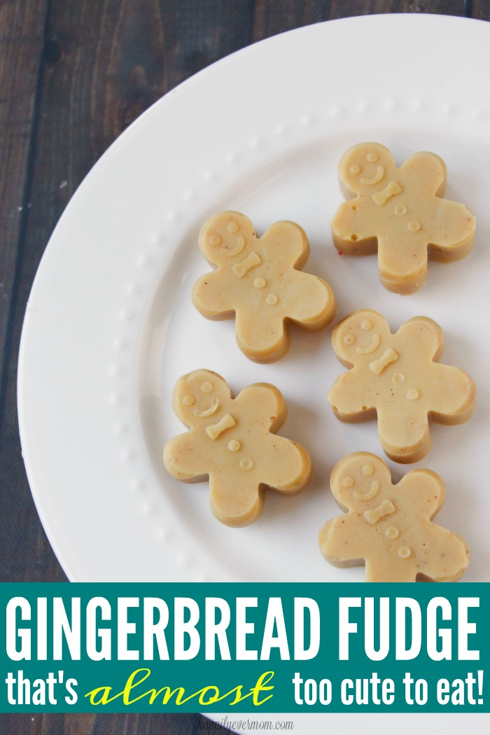 YUM! These are super cute and make great gifts for neighbors, co workers, friends, and family, but this gingerbread fudge also tastes SO yummy! My kids love making this gingerbread fudge during the holidays - it's become part of our family tradition :)