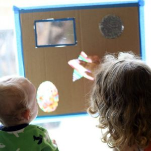 Upcycled DIY Sensory Board for Baby!