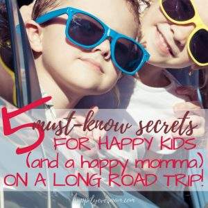 5 secrets to surviving a long road trip with kids under 5