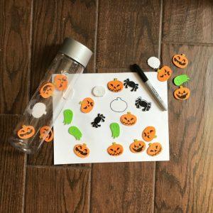 Quick Halloween Activity with Foam Stickers for Preschoolers