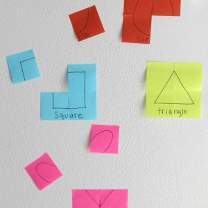 Post-it Note Puzzles: Early Learning Activity for Kids