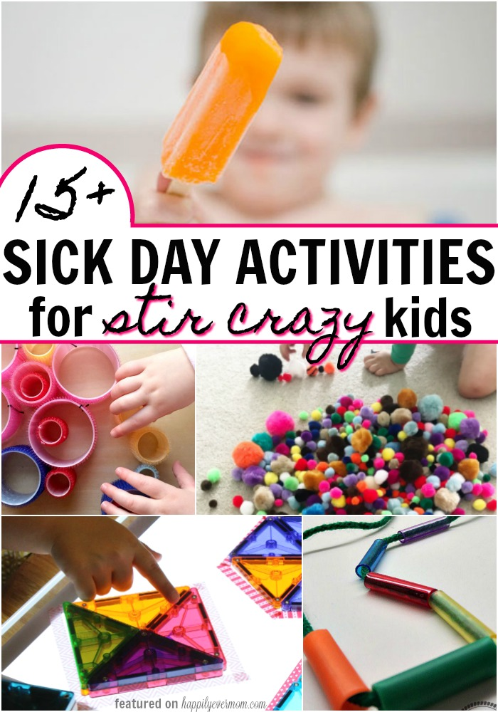 Cough. Sneeze. ICK! Sick Day Activities for Kids that will help you and your little ones get through flu season. Simple prep. Easy to clean up. Loving these activities for my kids!
