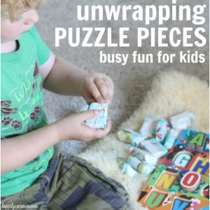 Fun Christmas Toddler Activity: Wrapping Paper Puzzles