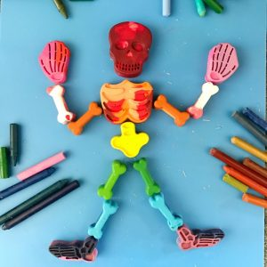 Upcycled Crayons Skeleton Bones: A Fun DIY Halloween Activity for Kids