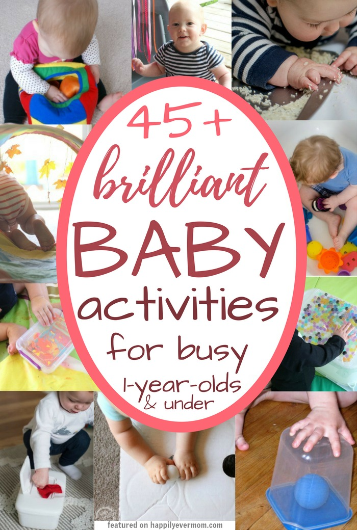 YES! This list is exactly what I was looking for. It's got ideas for baby art, games, and sensory play that I can do at home with my little one. There's cute ideas for three month olds in there, but I love that I can use this list up to toddlerhood too. My kids LOVE these activities!