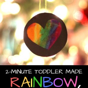2-Second Toddler-Made Ornament: Inspired by The I Love You Book!