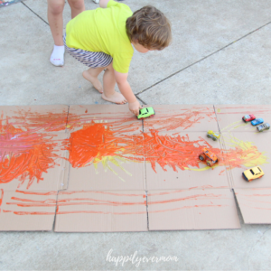 Truck Painting: Fun Art Activity for Toddlers