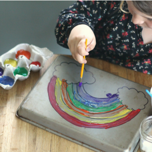 Boredom Buster: Turn Your Cookie Sheet into a Fun Painting Project