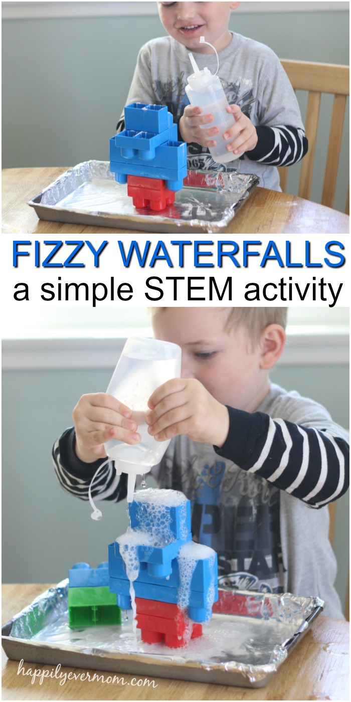 This easy toddler science experiment is a fabulous way to bring STEM to life for little ones! They'll build, predict, and cause reactions with very little adult help or supervision. If you think science is complicated or too difficult to do at home, try this simple experiment. You'll be amazed with how much your toddler will love doing this over and over. #toddler #preschool #science #experiment #easy #fun #learning #homeschool