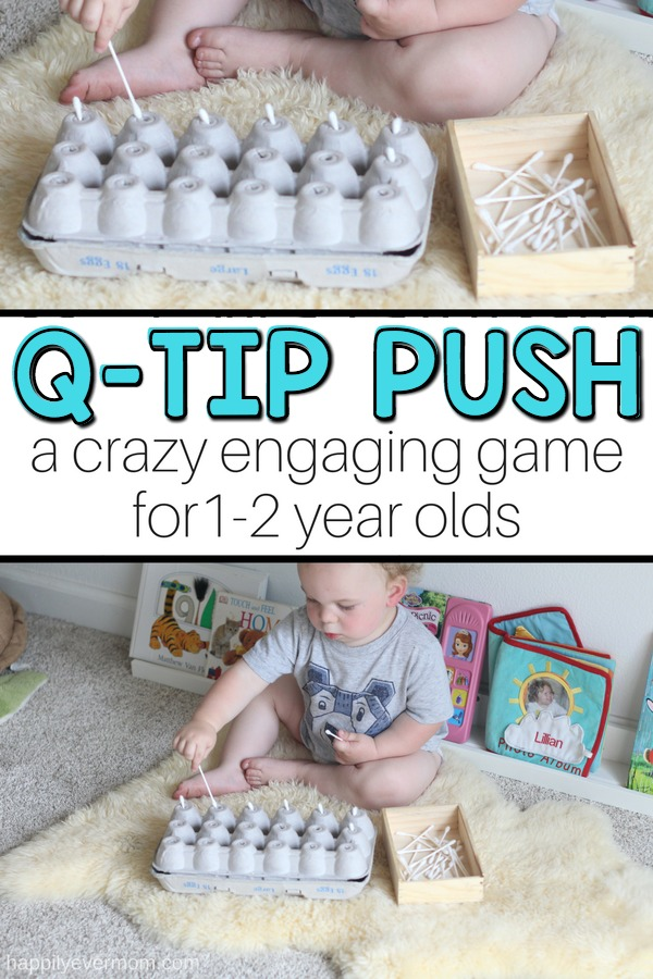 What?! This fun baby game kept my 17 month old playing for over 30 minutes. How is that possible with only an egg carton and q-tips?! Read this post. Gives you all the details about *why* we should do baby activities and how to make them a success! This is a must try!