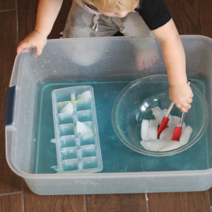 Fun and Easy Toddler Activity with Ice
