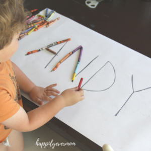 Crayon Names: A Fun Learning Activity for Toddlers