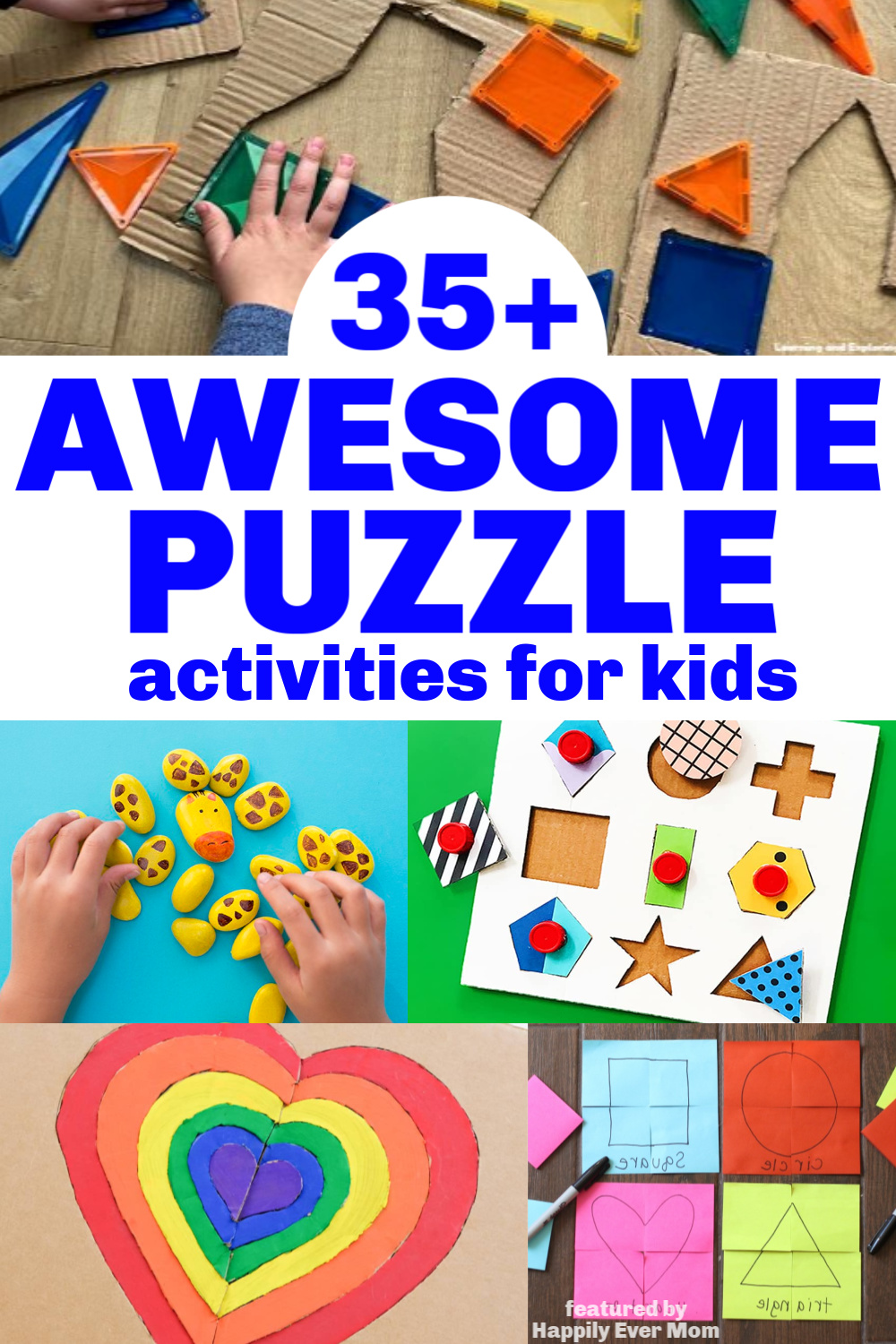 AWESOME activities for my kids! I love that there's a mix of puzzles you can make and activities to do with puzzles. Super fun.