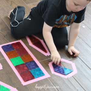 Tape Puzzle: A Fun Learning Activity at Home